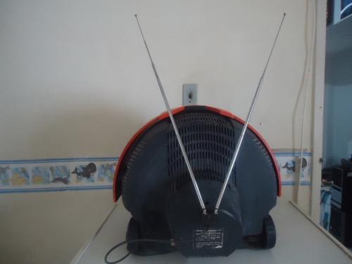 tv  14'' philips discoverer ( capacete ) - sem av