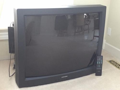 tv 40 pulgadas mitsubishi cs-40503 crt con parlantes grandes