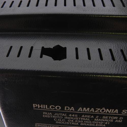 tv antiga philco hitachi preto - c/ defeito p/ decoração