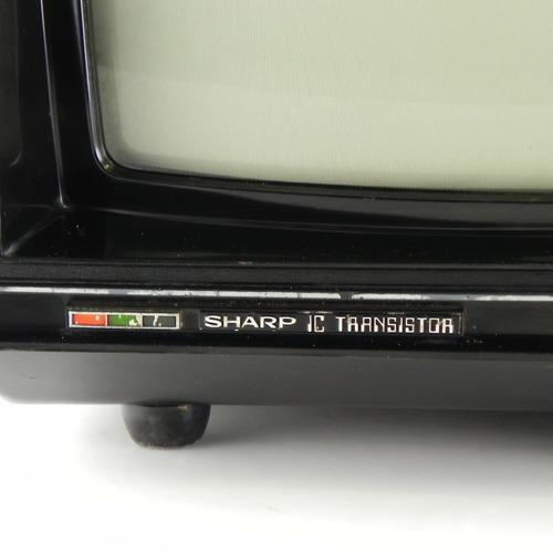 tv antiga sharp c-1601a ic transistor c/ defeito, decoração