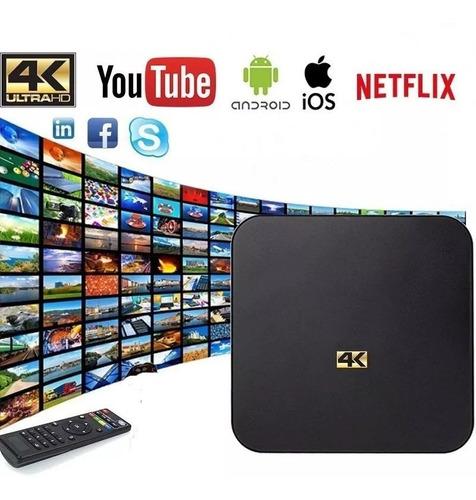 tv box 4k 4gb ram 64gb interna android netflix youtube ofert