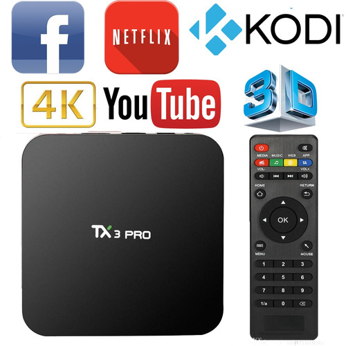 tv box 4k android 6.0 convertí tv en smart o tablet netflix