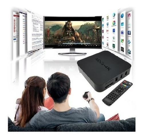tv box 4k dd 32gb ram 4gb convierte televisor a smart tv +ob