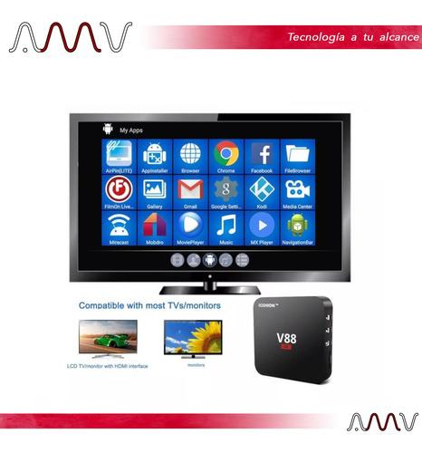 tv box 4k smart android 7.1 quad core 8gb ddr3 1gb wifi amv