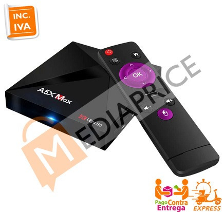 tv box a5x max 4gb 32gb android bluetooth + 8000 canales