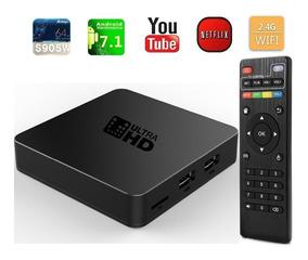 Tv Box Android 7 1 4k Convierte En Smart Tv + Envió Promocio