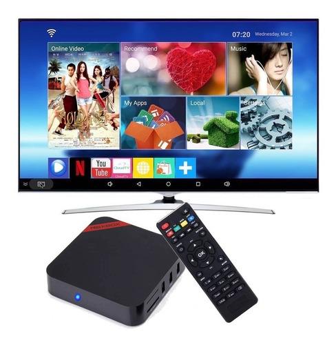 tv box android 7.1 convierte en smart tv netflix tvbox envio