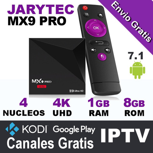 tv box android 7.1 mx9 pro 1gb ram 8gb rom rockchip jarytec