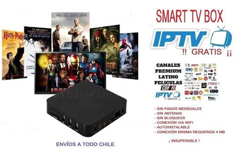 tv box android  ¡ incluye iptv gratis ¡ ¡ único en chile !