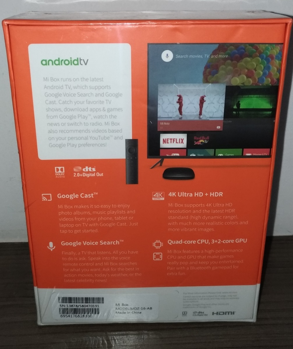 Tv Box Android Tv 4k Ultra Hd Xiaomi Mi Box