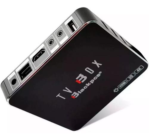 tv box android wifi blackpcs eo104k-bl 7.1 hdmi smart tv 4k