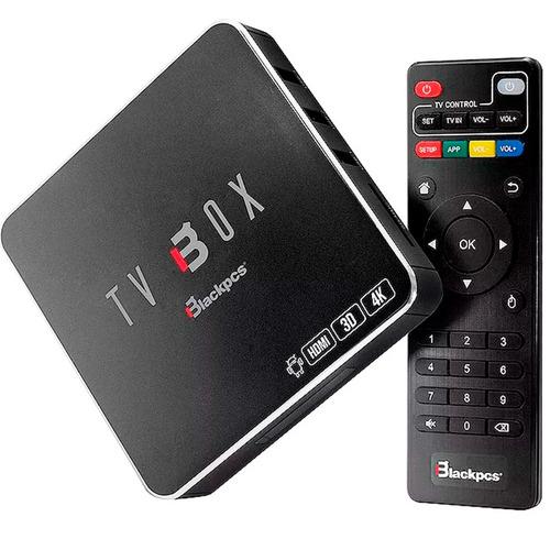 tv box blackpcs eo104k-bl android 7.1 hdmi wifi con control
