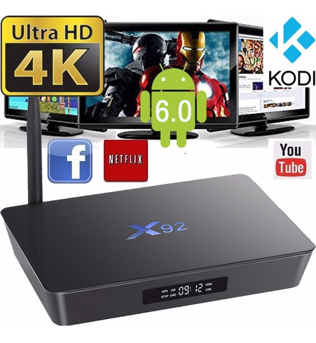 tv box conversor smart tv 4k wifi octacore netflix android