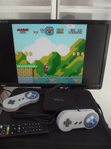 tv box + emulador super nintendo 7000 jogos + cabo 4 metros