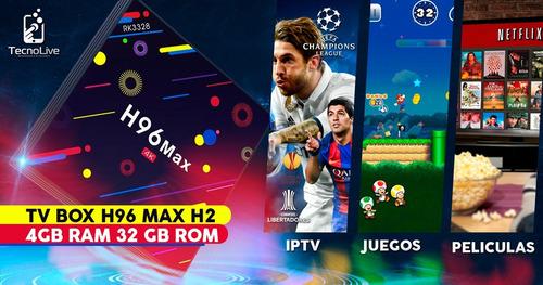tv box h96 max h2 4gb ram 32 gb rom / ultraplay /iptv gratis