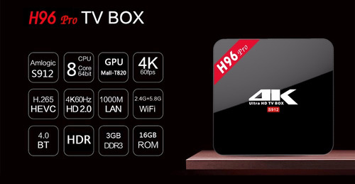 tv box h96 pro octacore 4k android 6.0 3gb/16g