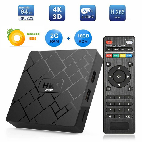 tv box hk1 mini android 8.1 2gb 16gb + 8000 canales gratis