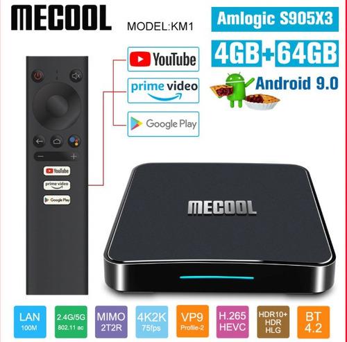 tv box mecool km1 ultima generacíon 4g/64g gama alta