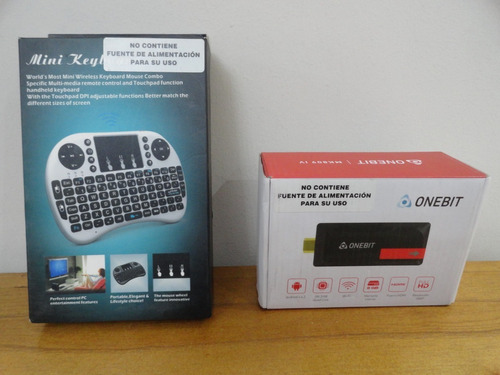 tv box mk809iv android + teclado bluetooth igual a nuevo zwt