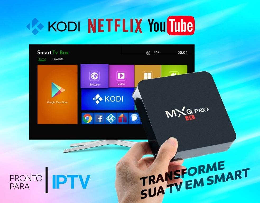 Tv Box Mxq Pro 4k Android 7 1 2gb Ram 16gb Rom - Iptv, Kodi