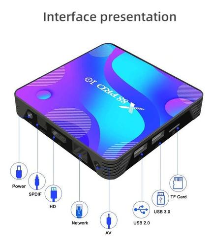 tv box pro smart tv android 10, 4gbram/64gb rom 4k