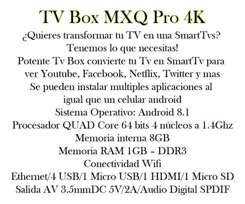tv box smart 4k tv smart android internet redes social bagc
