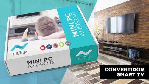 tv box smart tv android 7.1 quad + mini teclado convertidor