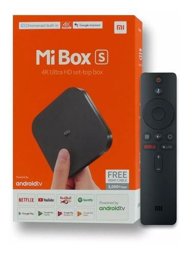 tv box smart xiaomi mi box s 4k 2gb/8 android 8.1 chromecast