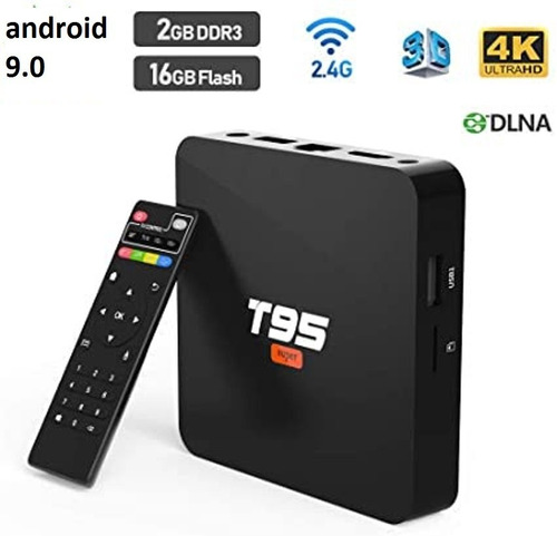 tv box t95 4k, 2gb, 16gb, android 9.0 pro smart tv