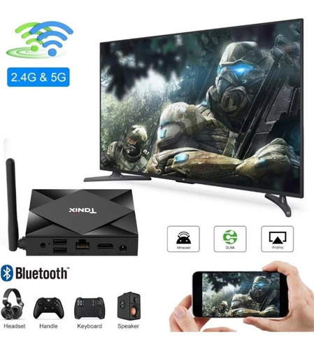 tv box tanix tx6s android 10 , 4g/64g configurado canales tv