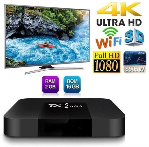 tv box tx2 2gb ram 16gb memoria interna bluetooh mirrowlink