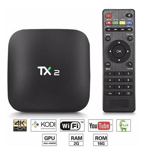 tv box tx2 bluethooth potente 2gb de ram y 16gb