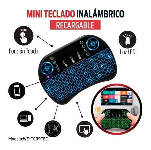 tv box tx3 mini 1 ram 8 gb amdroid 8 + teclado luminoso