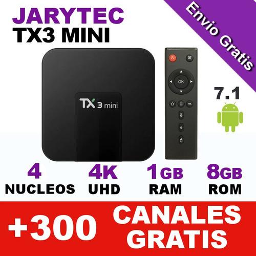 tv box tx3 mini 1gb ram 8gb rom 4k android 7.1 kodi jarytec
