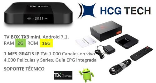 tv box - tx3 mini 2g 16g - ip tv mes gratis