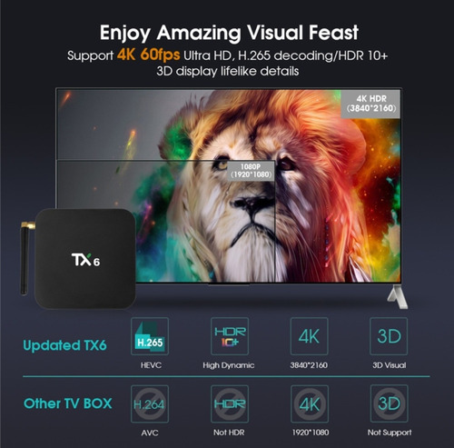 tv box tx6 4g 32g bluetooh dual band 1oo % originales 2020