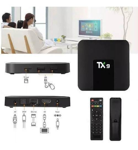 tv box tx9 2gb ram + 16gb potente androit