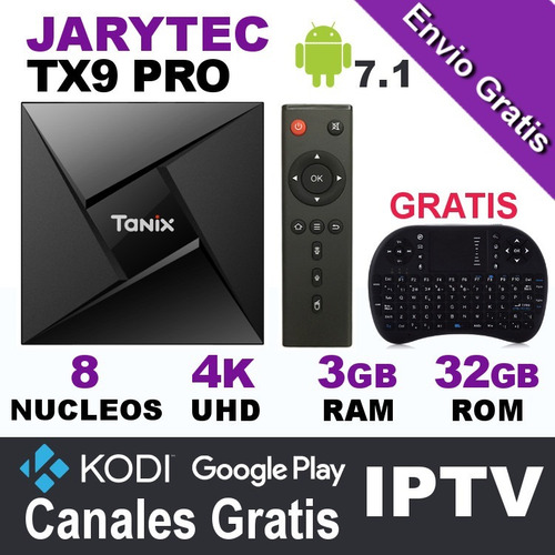 tv box tx9 pro 3gb ram 32gb rom 4k android 7.1 kodi jarytec