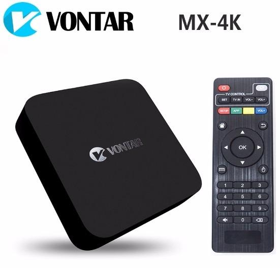 tv box vontar mx-4k quad core android 5.1 1gb ram 8gb memori