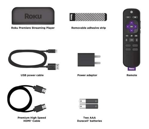 tv box wifi roku premiere hd/4k/hdr con control remoto