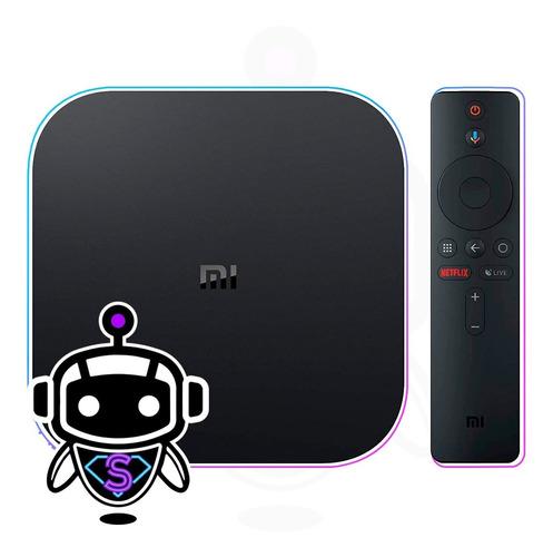tv box xiaomi mi box s 4k = google chromecast + comando voz