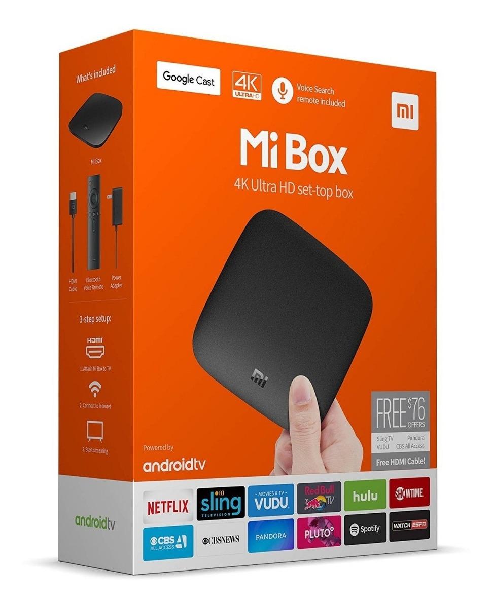 Tv Box Xiaomi Mi Box Tv 4k Ultra Hd Android6 0 Google Cast