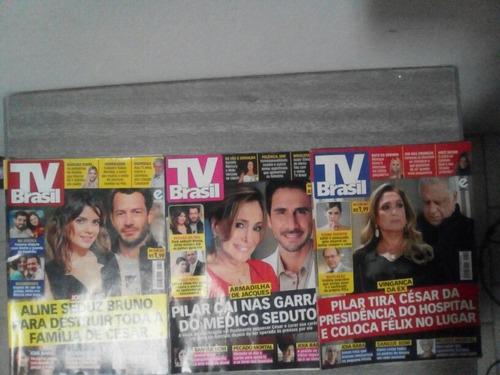 tv brasil. lote três revistas. ed. 710, 711, 712
