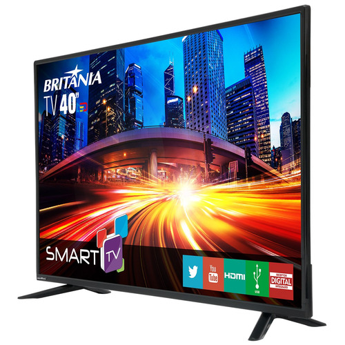tv britania 40 led smart com netflix