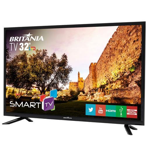 tv britânia 32  led smart com netflix