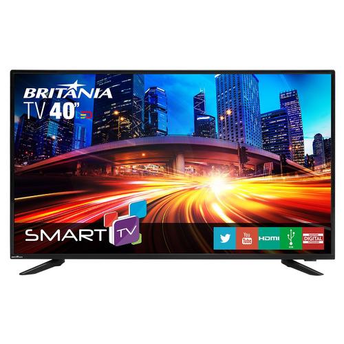 tv britânia 40  led smart com netflix
