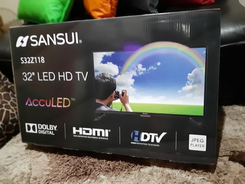 tv de 32 pulgadas led full hd sansui con garantia