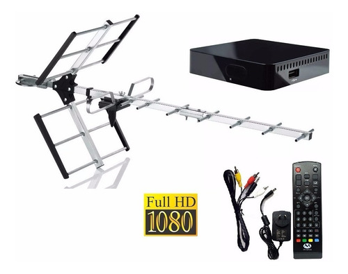 tv digital gratis antena + decodificador tda 1era marca gtia