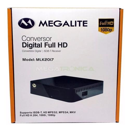 tv digital gratis antena + decodificador tda 1era marca gtia
