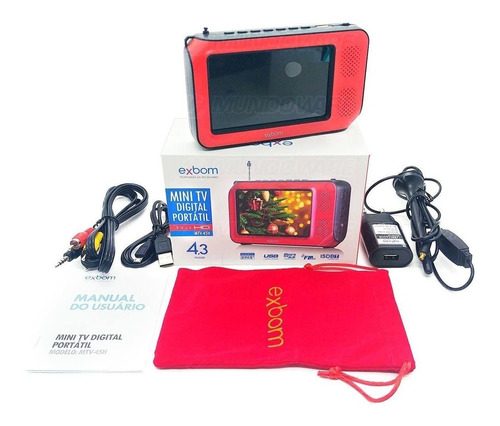 tv digital pequena portátil 4.3 fm usb micro sd entrada usb